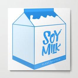 soy milk Metal Print