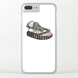 Shoe with a Mouth Clear iPhone Case