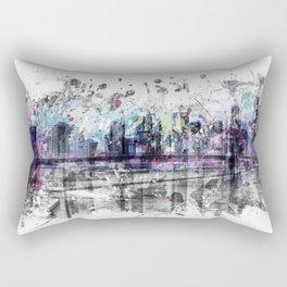 Modern Art NEW YORK CITY Skyline | Splashes Rectangular Pillow
