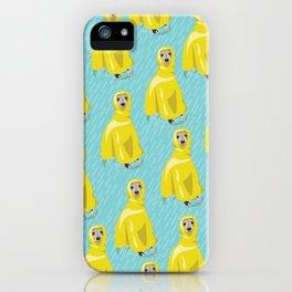 iggy in rain coat iPhone Case
