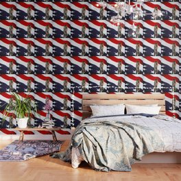 Red White and Brass the American Flag and a 20mm brass Casing reflections Wallpaper