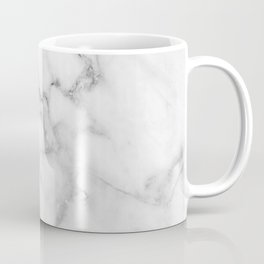 Clean White Marble Coffee Mug