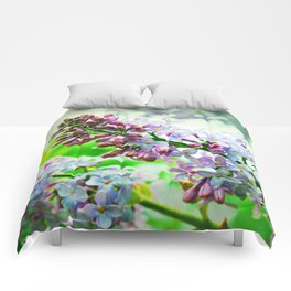 Lilacs In The Green Comforters