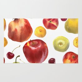 Watercolor frut Rug