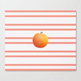 Ruston Peach Rugby Stripe Canvas Print