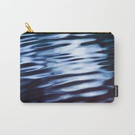 Silver and Black Ripples Carry-All Pouch