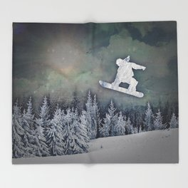The Snowboarder Throw Blanket
