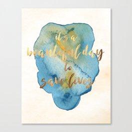 Grey's Anatomy /// It's a Beautiful Day to Save Lives /// Derek Shepherd /// Greys Anatomy Canvas Print