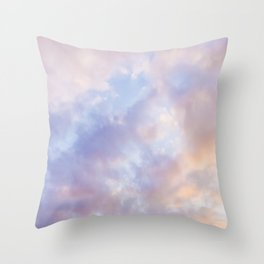 Pink sky / Photo of heavenly sky Throw Pillow