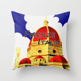 Firenze - Florence Italy Travel Throw Pillow