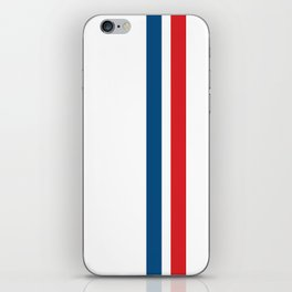 McQueen – Red and Blue Stripes iPhone Skin