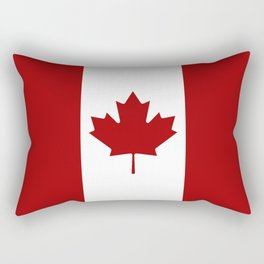 Canada: Canadian Flag (Red & White) Rectangular Pillow