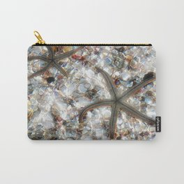 Starfish and Seashells by Barbara Chichester Paintographer Carry-All Pouch