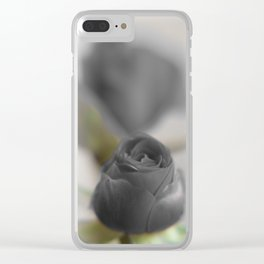 A Black Rose for your Sweetheart Clear iPhone Case
