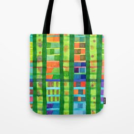 Colored Fields With Bamboo Tote Bag