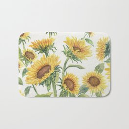 Blooming Sunflowers Bath Mat