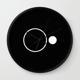 Emptiness - Black and White Minimalism Wall Clock