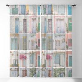 Travel Door Collection Sheer Curtain