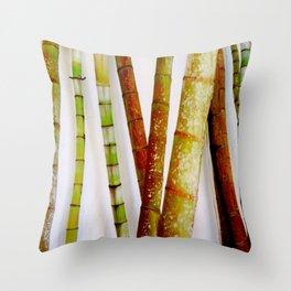 tropical bamboo Throw Pillow