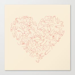 Penis Heart Canvas Print