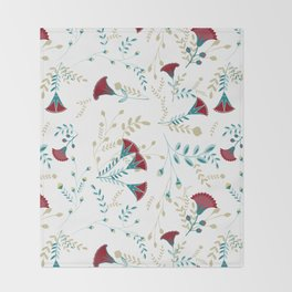 Egyptian Papyrus Flowers Throw Blanket
