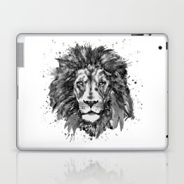 Black and White Lion Head Laptop & iPad Skin