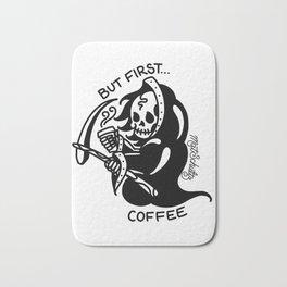 But First... Coffee Bath Mat