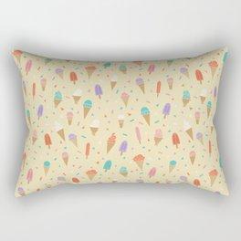Ice Cream Treat Pattern Rectangular Pillow