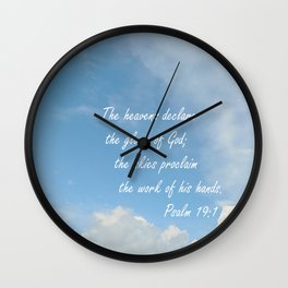 The Heavens Declare Wall Clock