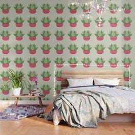Watercolor Cactus Painting Wallpaper