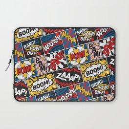 Modern Comic Book Superhero Pattern Color Colour Cartoon Lichtenstein Pop Art Laptop Sleeve