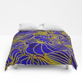 Curves in Yellow & Royal Blue Comforters