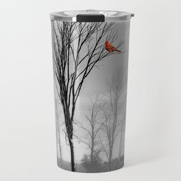 Red birds Cardinals Tree Fog A112 Travel Mug