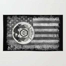 Faith Hope Liberty & Freedom Eagle on US flag Rug