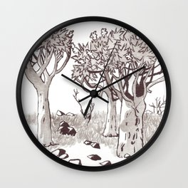 Quiver Tree Forest - Namibia Wall Clock