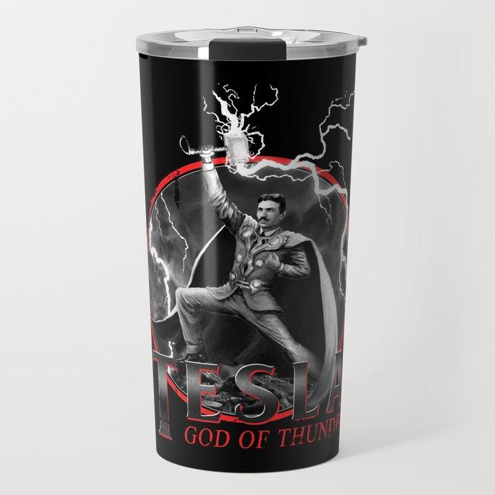 Tesla: God of Thunder Travel Mug