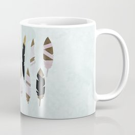 Gold Tipped Feathers Coffee Mug