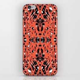Orange | Saro-Gongo Pattern Design iPhone Skin