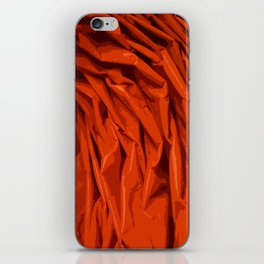Red Curtain Creases iPhone Skin