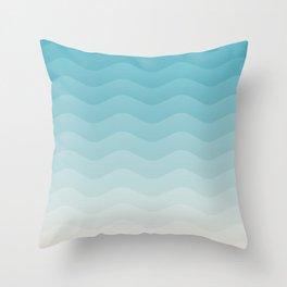 Deeb blue sea waves Throw Pillow