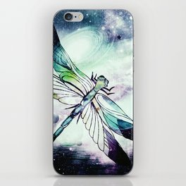 space dragonfly iPhone Skin
