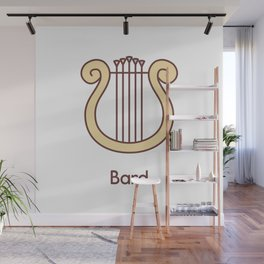 Cute Dungeons and Dragons Bard class Wall Mural