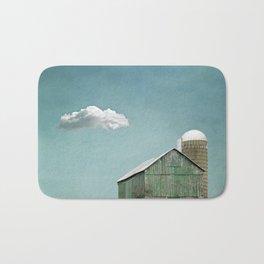 Green Barn and a Cloud Bath Mat