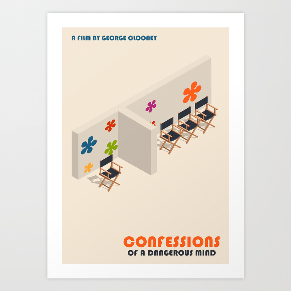 Confessions Of A Dangerous Mind Minimalist Poster … Art Print by Popate PRN9088179