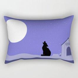 Moon Dog Rectangular Pillow