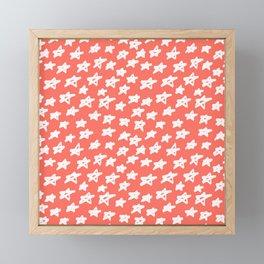 Stars Living Coral Framed Mini Art Print