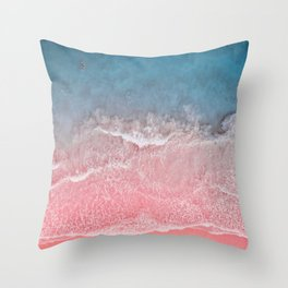 Bahamas pink blue Throw Pillow