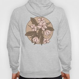 Sakura Branch Pattern - Pale Dogwood + Hazelnut Hoody