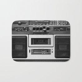 cassette recorder / audio player - 80s radio Bath Mat