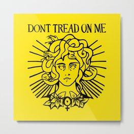 Medusa: Don't Tread On Me (Yellow) Metal Print
